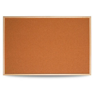900x600mm Cork Notice Pin Message Board Memo Office School Wood Frame Pinboard