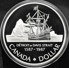 1987 Canada $1 Proof Silver Dollar