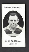 TADDY - PROMINENT FOOTBALLERS (NO FOOTNOTE) - R E GODFRAY, RICHMOND