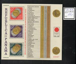 Olympische Spiele - PANAMA 1964 Block 9-B**