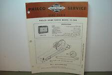 PHILCO RADIO SERVICE MANUAL MODEL 53-568
