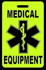 Hi-Viz Yellow Medical Equipment Carry-On Bag Tag - CPAP BiPAP APNEA POC