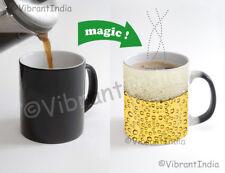 Beer Fizz sparkle yellow Color Changing Heat Sensitive Tea Cup Magic Coffee Mug