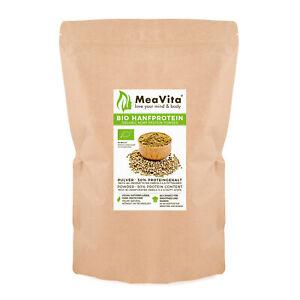 MeaVita Bio Hanfprotein Pulver, hoher Proteingehalt, 1 x 1000 Gramm .