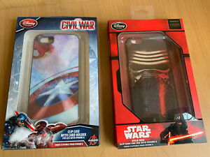 DISNEY STORE Star Wars And Marvel  Clip Phone Case for iPhone 6 Brand New In Box