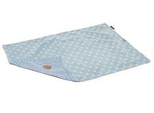 "Puppy Dog Marine Spot Comfort Blanket Blue Polka Dot Fleecy Comforter 28"" x 39"""