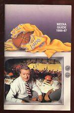 1986/1987 NBA Basketball Los Angles Lakers Media Guide NRMT