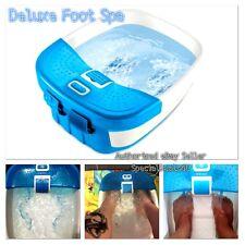 Foot Spa Massager Heat Massage Bubbles Bath Waterfall Feet Water Relax Pedicure