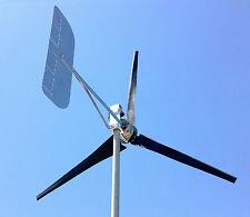 Wind Turbine Generator LOW WIND 1000 Watt 3 black KT Blade 12 DC 2 Wire 3.75 kWh