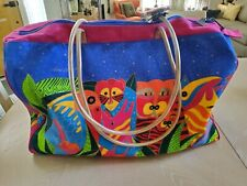 Laurel Burch Tote Duffle Weekender Bag Safari Animals