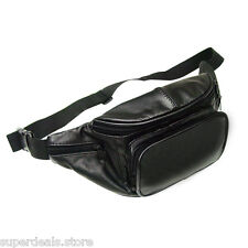 Black Lamb skin Leather Waist Fanny Pack P8873