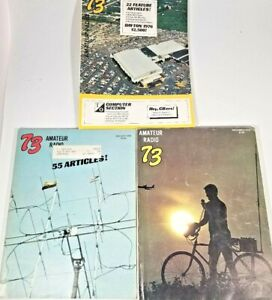 "Vintage Magazine ""73 Amateur Radio"" November, August and a Holiday Issue 1976"