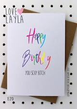 Greetings Card / Birthday Card / Comedy / Love Layla Aust / Funny / Humour / E20