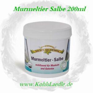 Murmeltier Salbe - 200ml - Das Gute aus dem Inntal.