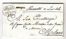 1812 REGNO Napoleon.lettera UDINE-MILANO-PREF.PASSARIANO a MINISTRO GUERRA-h462