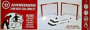 Warrior Hockey Mini Hockey Game Combo Set - 2 Mini Hockey Nets & Sticks Ball