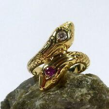 Echte Diamanten-Ringe mit Rubin