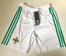 NEW NORTHERN IRELAND FOOTBALL SOCCER HOME SHORTS YOUTH 152CM 2019 WITH TAGS