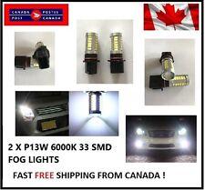 2x P13W 6000K White33 SMD LED 12V Auto Car Fog Light Headlight Bulbs Bright 5730