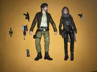 "Hasbro Star Wars Black Series Rogue One 6"" CASSIAN ANDOR & JYN ERSO 100% new"