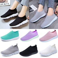 Womens Trainers Casual Sports Running Sneakers Slip On Tennis Shoes Breathable
