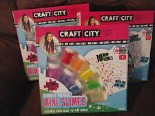 3 Sets Of Craft City Karinas Premade Mini Slimes
