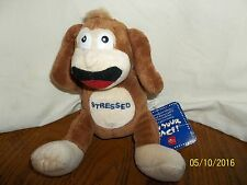 """Russ Monkey Plush In Your Face Stressed With Tag 7"""""""