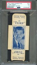 1947 TURF Cigarettes Card w/ Tab #15 CLARK GABLE Actor GONE WITH THE WIND PSA 5