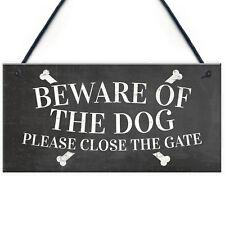 Beware Of The Dog Warning Sign Garden Gate House Door Hanging Outdoor Plaque