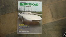 OLD AUSTRALIAN SPORTS CAR WORLD MAGAZINE, 1979, JAGUAR XJ SPIDER, LANCIA STRATOS
