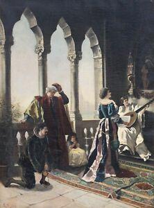"19th century ""Spanish Loggia"", Signed E. Rieder"