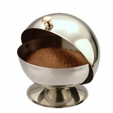 Stainless Steel Sugar Bowl - Roll Top