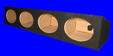 "4 FOUR HOLE A/T 6X9"" 6 X 9 6""X9"" BLACK ENCLOSURE SPEAKER BOX"