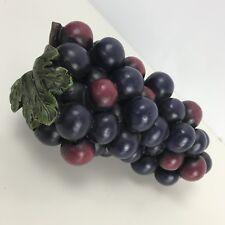 "Grape Cluster Arrangement Polyresin Purple Fruit Decoration 8"""