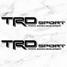 TOYOTA TACOMA TRD SPORT DECALS STICKERS SET OF 2 DECALS BLACK