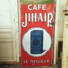 grande plaque emaillé thème cafe JIHAIR  . XX siècle .