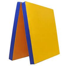 Grevinga®KIDS klappbar Turnmatte (RG 35) 200x100x8cm GELB-BLAU (138031-gl-bl)