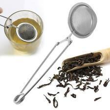 1pc Handle Mesh Ball Tea Strainer Tea Infuser Spice Filter Squeeze Locking Spoon