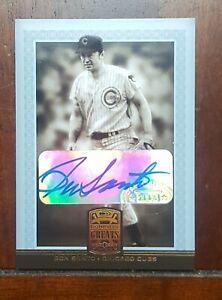 2005 Donruss Greats Gold, Ron Santo, Chicago Cubs Signature Auto Autograph