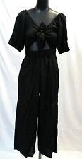 ASOS Women's Tea Jumpsuit With Puff Sleeve SV3 Black US:6 UK:10