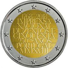 2 euros conmemorativos Portugal 2018 - 250 Años Imprenta / S/C / ENVIO YA!!