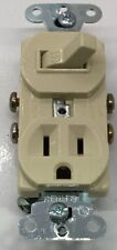 691-I P&S COMBINATION DEVICE 1P SWITCH 15A 120VAC RECEPTACLE 15A 125V, IVORY