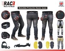Men,s Motorcycle Motorbike  SKINNY JEANS STRETCH DENIM with Protective Lining