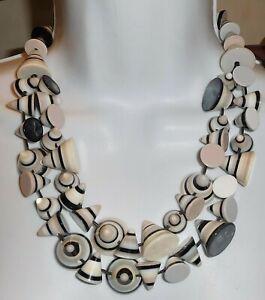 Sobral Formas Multi Cones Lagrima Bead Statement Necklace Brazil Import