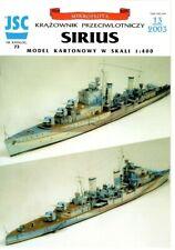 Card Model Kit – Cruiser HMS Sirius