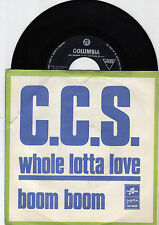 "C.C.S. WHOLE LOTTA LOVE LED ZEPPELIN COVER 1970 RECORD YUGOSLAVIA 7"" PS"