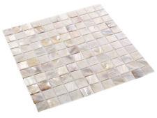 Perlmutt Mosaik Fliesen Shell White Weiß 25 x 25 x 2 mm