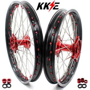 KKE 21/19 Cast Wheels Rims Set for HONDA CRF250R 14-21 CRF450R 2013 CRF450L 2019