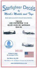 STARFIGHTER DECALS 1/700 USS Enterprise CV6 AG20/AG(N)90 1944-45 SFA700103