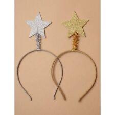 Christmas Headband Deely Bopper Tinsel Angel Halo Glitter Star Fancy Dress